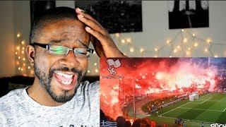 American Football Fans vs European Football Fans! REACTION