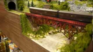 N scale Japanese branch line layout 120 X 90 cm