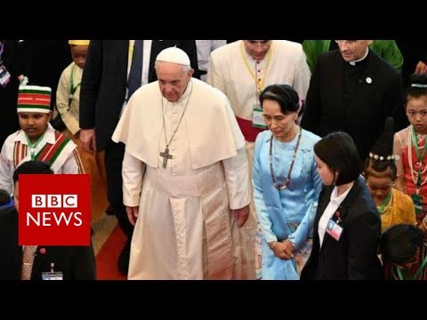 Xxx Mp4 Pope S Myanmar Speech Avoids Reference To Rohingya BBC News 3gp Sex
