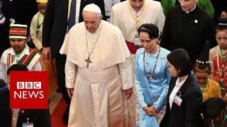 Pope's Myanmar speech avoids reference to Rohingya - BBC News