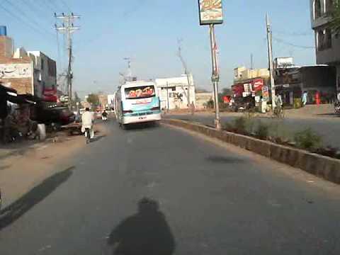 Pakistan Rahim-Yar-Khan on motorbike
