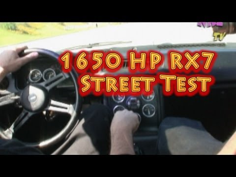 1650 HP RX7 The Sleeper Part 2 Scary and Funny from NRE.