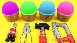Mad Matter Kinetic Sand VS Kinetic Sand Ice Cream Surprise Egg Kinder Joy Baby Toys Fun for Kids