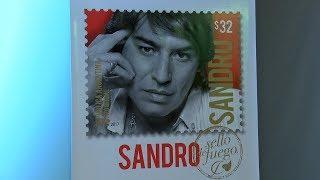 Sello postal de homenaje a Sandro