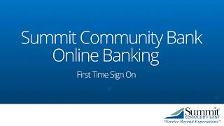 Welcome To Summit - First Time Sign On for First Peoples Bank