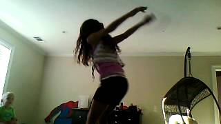 my step sister doing her backflip off the bed :)!!!!!!!!