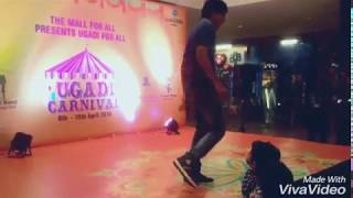Sardar gabbar singh title song dance at Manjeera mall Hyderabad by Siva Namala