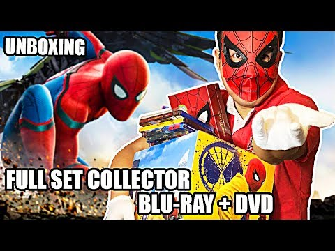 Xxx Mp4 Notre UNBOXING Du FULL SET Blu Ray DVD Spider Man Homecoming 3gp Sex