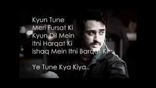 Yeh Tune Kya Kiya Lyrics (Once Upon A Time In Mumbaai Dobaara)