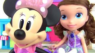 Disney Jr. MINNIE MOUSE Picnic Basket Playset, Play-doh Princess Sofia the First, Frozen Anna TUYC