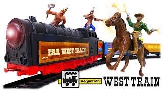TRAINS FOR CHILDREN VIDEO: Pequetren Far West Train Ref. 695 Wild West Classic Train Toys Review