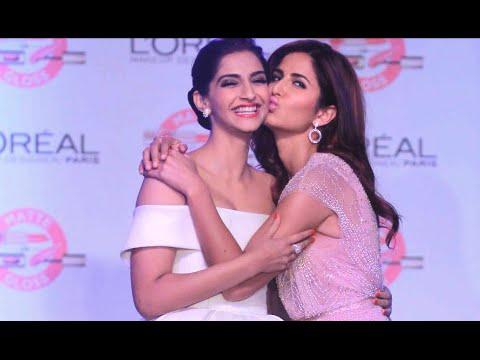 Katrina Kaif Kisses Sonam Kapoor Watch Hot Video Clip!