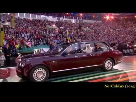 Susan Boyle ushered in The Queen w Mull Of Kintyre 2014 Commonwealth Games Opening Ceremony