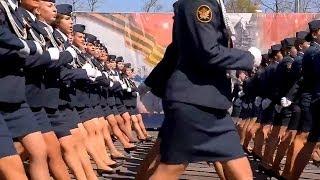 Russian Police Girls Parade in Ryazan, Russia