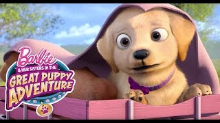 Puppy Platoon Stashes Away | Barbie & Her Sisters in a Great Puppy Adventure | Barbie