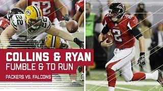 Collins Forced Fumble Leads to Matt Ryan TD Run!   Packers vs. Falcons   NFC Championship Highlights