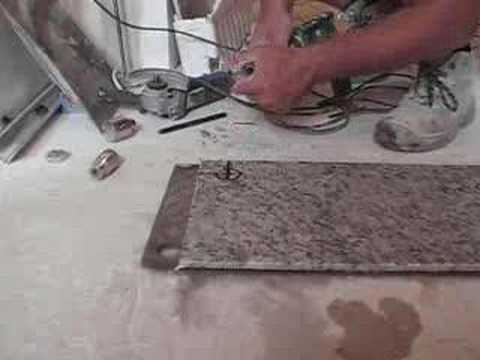 Marcar y taladrar granito drilling granite