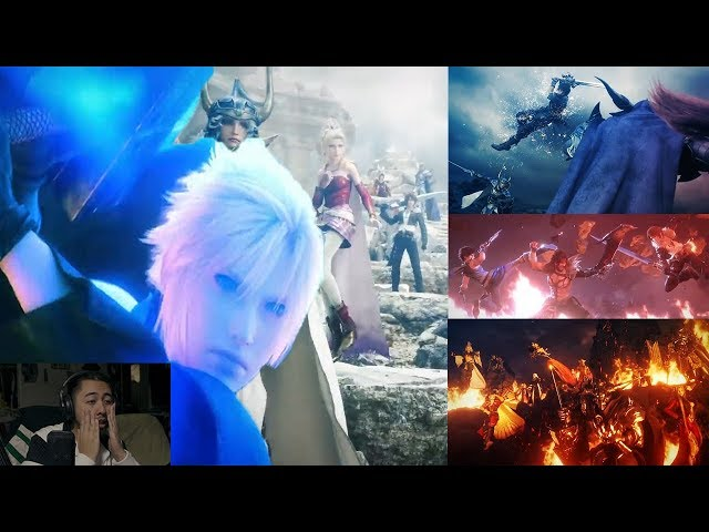 ULTIMATE FINAL FANTASY FANSERVICE!!! Final Fantasy Dissidia NT Cinematic REACTION