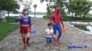 FISHING GAME TOY - Câu cá với người nhện và siêu nhân ❤ AnAn ToysReview TV ❤