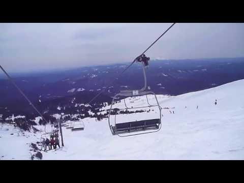 Snowboarding on Mt Hood.mov