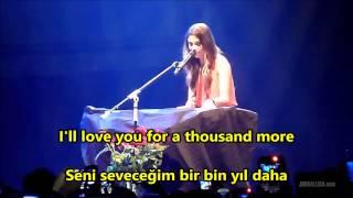 Christina Perri - A Thousand Years İngilizce-Türkçe Altyazı (English-Turkish Subtitle)