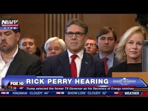 FULL VIDEO Rick Perry Senate Confirmation Hearing Trump s Secretary of Energy Nominee