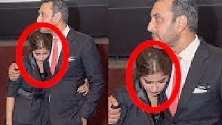 Sajal Ali Crying with Adnan at screening of Movie MOM | Emotional moments