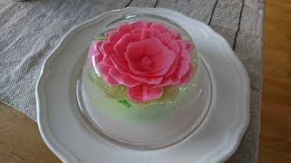 How to Make 3d Jelly Cake - Jelly Art - Prosecco and Strawberry Flavour Jelly