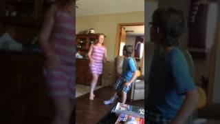(R.I.P Lincoln)Sister And Idiot Brother Fight Over Mini Trampoline!!
