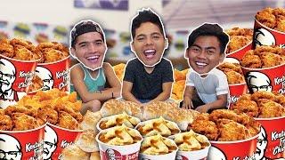 ENTIRE KFC MENU IN 10 MIN! (ft. Wassabi Productions)