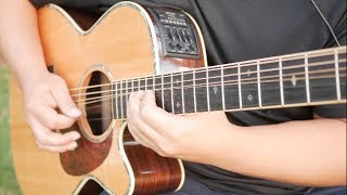 Hotel California Acoustic Guitar Solo | The Eagles | Acoustic Cover | Free Tabs + Backing Track |