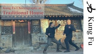 Kung Fu Fight at Old Chinese House