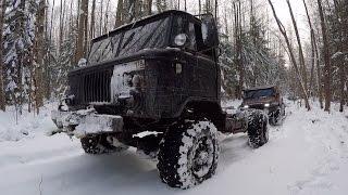 ГАЗ 66 наказывает нашу лесную дорогу и всех кто по ней ездил до этого