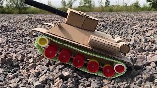 How to Make RC Tank T-34-85 at Home - DIY with cardboard