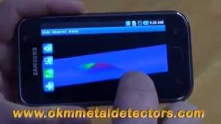 Android metal detector   OKM Rover UC demo application