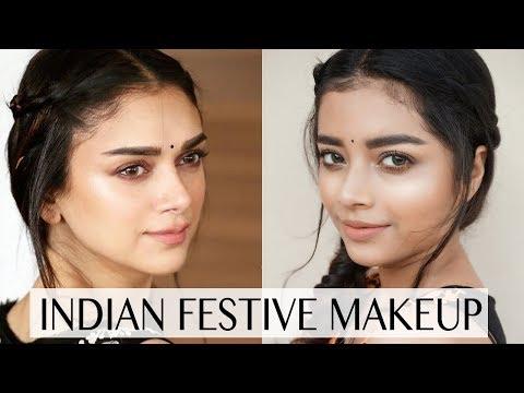 Xxx Mp4 Aditi Rao Hydari Inspired Indian Festive Makeup Look Durga Pooja Makeup 3gp Sex