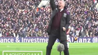 MOYES CAM - THE BEST REACTIONS AGAINST CHELSEA