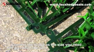 Artificial Hedge Installation Instruction Video- Sunwing Industries Ltd