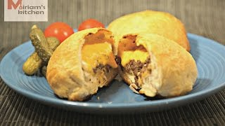 Stuffed cheese burger using ready made biscuit dough