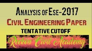 Analysis of ESE-2017, Civil Engineering Paper