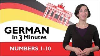 Learn German - German in Three Minutes - Numbers 1-10