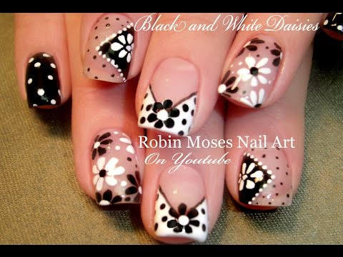 DIY Easy Dot Flower Nail Art for Beginners Cute Daisy Nails Design Tutorial