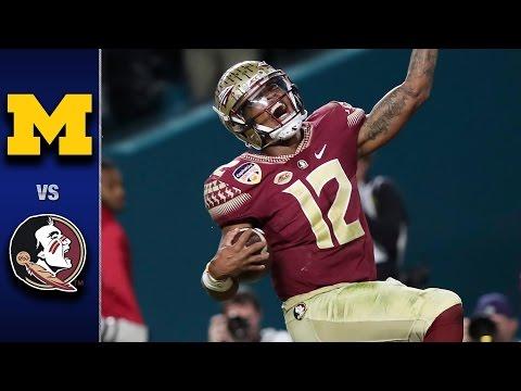 Florida State vs. Michigan Orange Bowl Highlights 2016