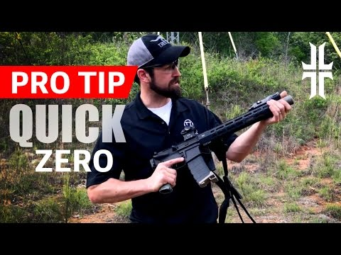 Pro Tip - Quickly Zeroing an AR-15