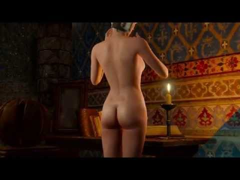 The Witcher 3 Wild Hunt - First sexy scene with Yennefer (final version PS4)