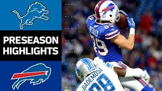 Lions vs. Bills | NFL Preseason Week 4 Game Highlights