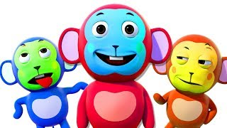 Five Little Monkeys | Best 3D Nursery Rhymes And Kids Songs | All Babies Channel