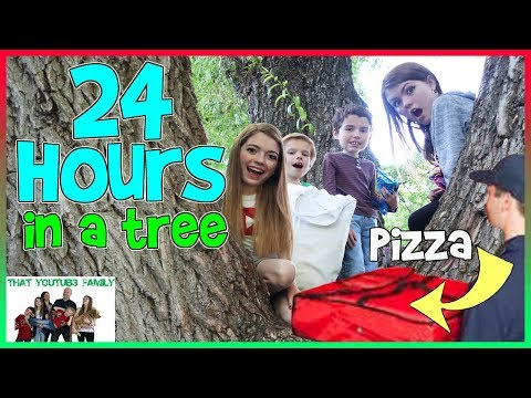 24 Hours In A Tree We ordered PIZZA Fan Favorite That YouTub3 Family Family Channel
