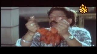 Vishnuvardhan eating Tandoori Chicken Comedy Scenes | Lokesh | Sonakshi |Kannada Movie Comedy Videos