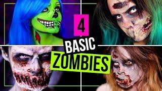 BASIC ZOMBIES - 4 EINFACHE Techniken für Zombies (auch OHNE SFX!) für Halloween! | #SPOOKTOBER